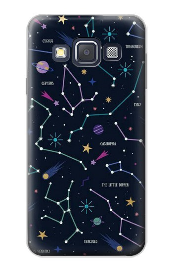 Printed Star Map Zodiac Constellations Samsung Galaxy A3, A3 Duos Case