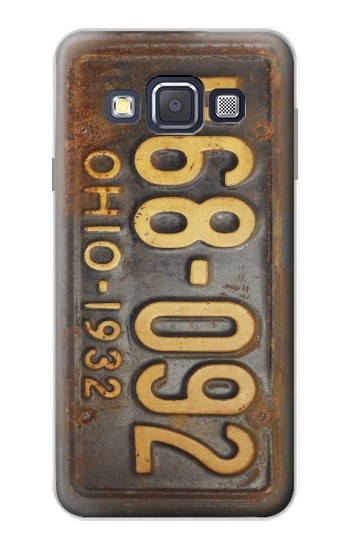 Printed Vintage Car License Plate Samsung Galaxy A3, A3 Duos Case
