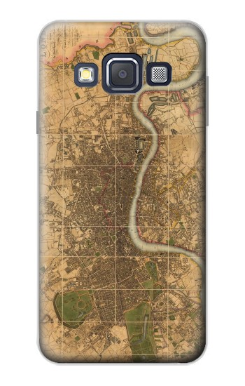 Printed Vintage Map of London Samsung Galaxy A3, A3 Duos Case