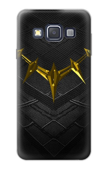 Printed Black Panther Inspired Costume Gold Necklace Samsung Galaxy A3, A3 Duos Case