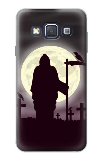 Printed Night Moon Cemetery Samsung Galaxy A3, A3 Duos Case