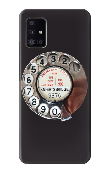 Printed Retro Rotary Phone Dial On Samsung Galaxy A41 Case