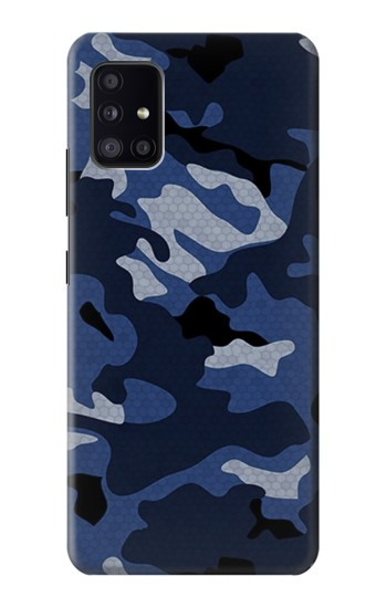Printed Navy Blue Camouflage Samsung Galaxy A41 Case