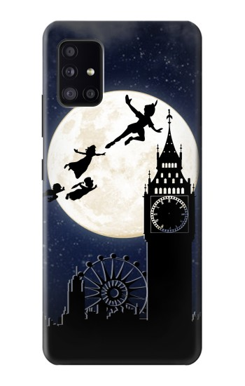 Printed Peter Pan Fly Fullmoon Night Samsung Galaxy A41 Case