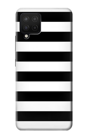 Printed Black and White Striped Samsung Galaxy A42 5G Case