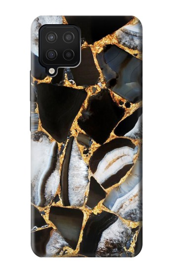 Printed Gold Marble Graphic Print Samsung Galaxy A42 5G Case