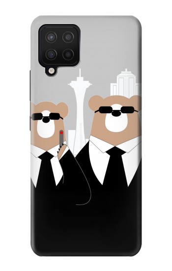 Printed Bear in Black Suit Samsung Galaxy A42 5G Case