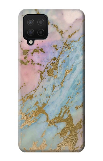 Printed Rose Gold Blue Pastel Marble Graphic Printed Samsung Galaxy A42 5G Case