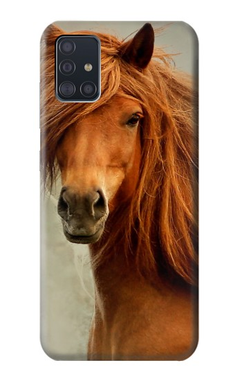 Printed Beautiful Brown Horse Samsung Galaxy A51 Case