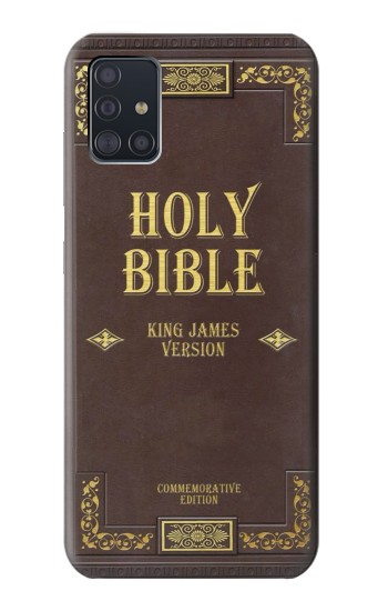 Printed Holy Bible Cover King James Version Samsung Galaxy A51 Case