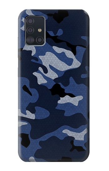 Printed Navy Blue Camouflage Samsung Galaxy A51 Case
