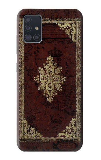 Printed Vintage Map Book Cover Samsung Galaxy A51 Case
