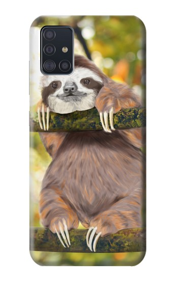 Printed Cute Baby Sloth Paint Samsung Galaxy A51 Case