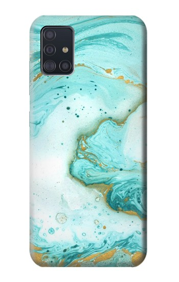 Printed Green Marble Graphic Print Samsung Galaxy A51 Case