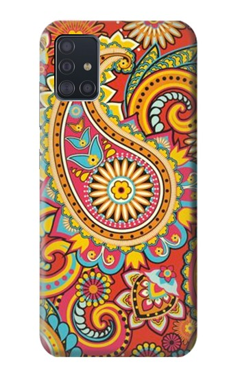 Printed Floral Paisley Pattern Seamless Samsung Galaxy A51 Case