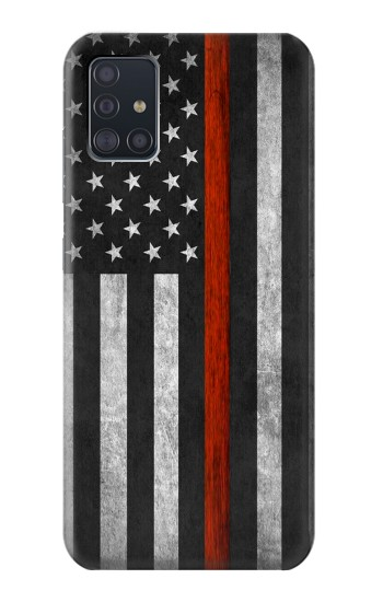 Printed Firefighter Thin Red Line Flag Samsung Galaxy A51 Case