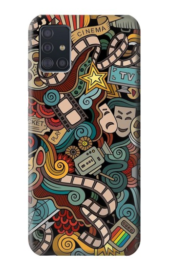 Printed Movie Acting Entertainment Samsung Galaxy A51 Case