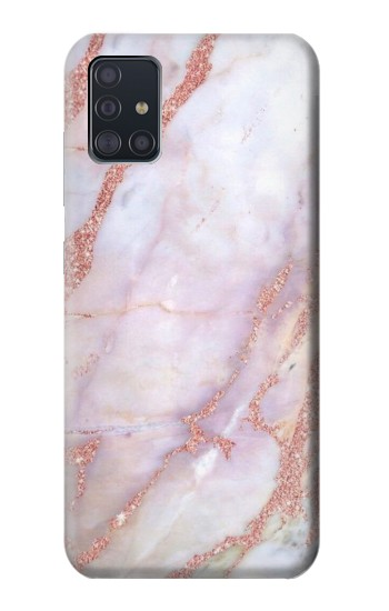 Printed Soft Pink Marble Graphic Print Samsung Galaxy A51 Case