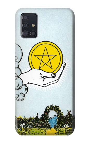 Printed Tarot Card Ace of Pentacles Coins Samsung Galaxy A51 Case