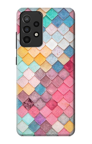 Printed Candy Minimal Pastel Colors Samsung Galaxy A52 Case