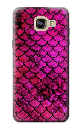 Printed Pink Mermaid Fish Scale Samsung Galaxy A5 (2016) Case