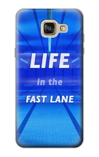 Printed Life in the Fast Lane Swimming Pool Samsung Galaxy A5 (2016) Case