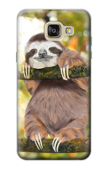Printed Cute Baby Sloth Paint Samsung Galaxy A5 (2016) Case