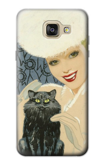 Printed Beautiful Lady With Black Cat Samsung Galaxy A5 (2016) Case