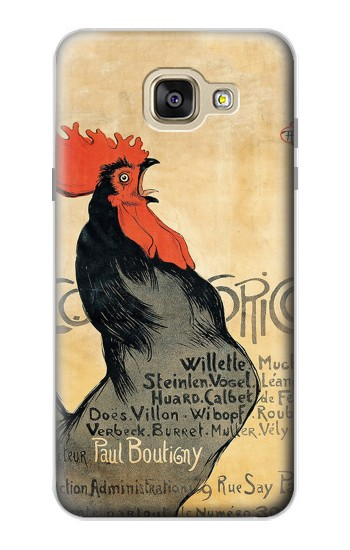 Printed Cocorico Rooster Vintage French Poster Samsung Galaxy A5 (2016) Case