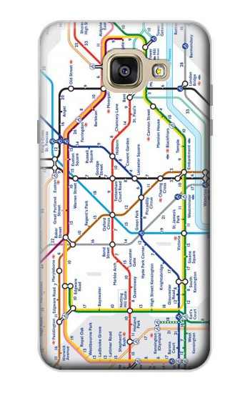 Printed London Underground Map Samsung Galaxy A5 (2016) Case