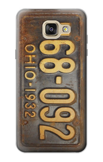 Printed Vintage Car License Plate Samsung Galaxy A5 (2016) Case