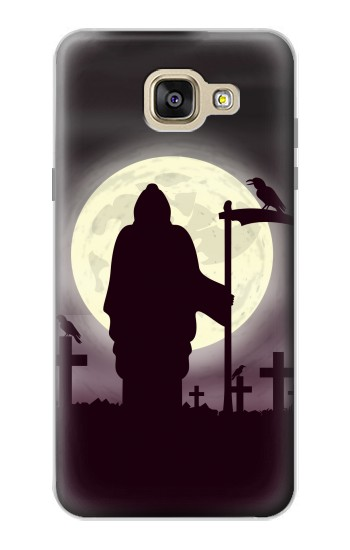 Printed Night Moon Cemetery Samsung Galaxy A5 (2016) Case
