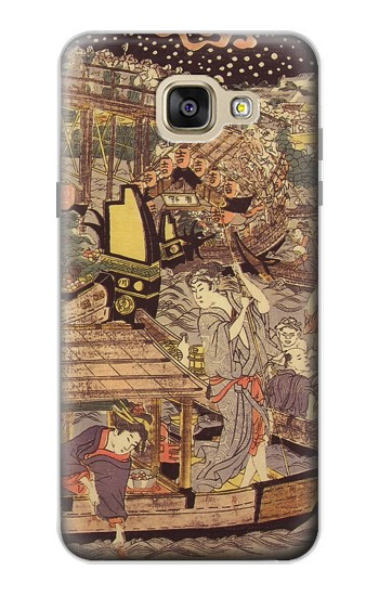 Printed Utagawa Kuniyasu Fireworks at Ryogoku Bridge Samsung Galaxy A5 (2016) Case