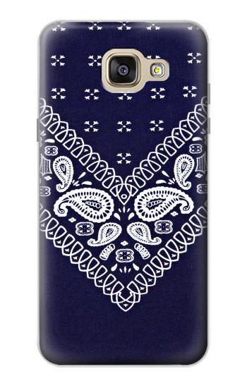 Printed Navy Blue Bandana Pattern Samsung Galaxy A5 (2016) Case