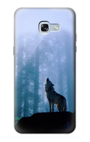 Printed Wolf Howling in Forest Samsung Galaxy A5 (2017) Case