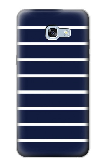 Printed Navy White Striped Samsung Galaxy A5 (2017) Case