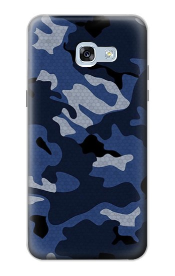 Printed Navy Blue Camouflage Samsung Galaxy A5 (2017) Case