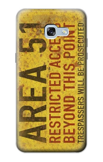 Printed Area 51 Restricted Access Warning Sign Samsung Galaxy A5 (2017) Case