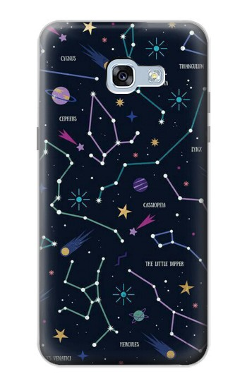 Printed Star Map Zodiac Constellations Samsung Galaxy A5 (2017) Case
