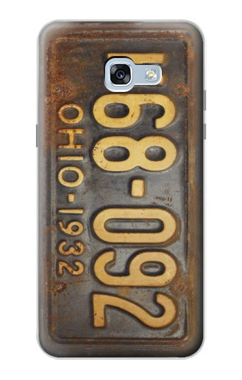 Printed Vintage Car License Plate Samsung Galaxy A5 (2017) Case