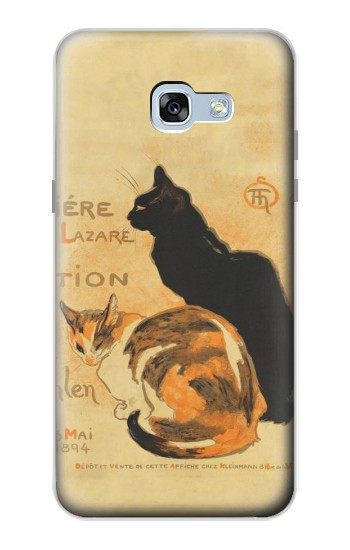 Printed Vintage Cat Poster Samsung Galaxy A5 (2017) Case