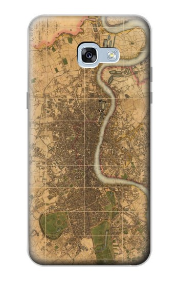 Printed Vintage Map of London Samsung Galaxy A5 (2017) Case