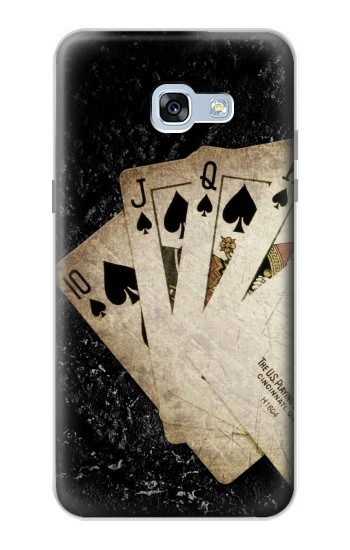 Printed Vintage Royal Straight Flush Cards Samsung Galaxy A5 (2017) Case