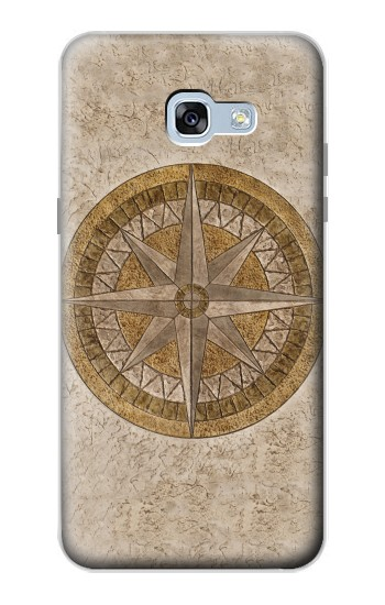 Printed Windrose Circle Stamp Samsung Galaxy A5 (2017) Case