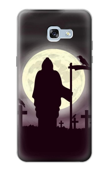 Printed Night Moon Cemetery Samsung Galaxy A5 (2017) Case
