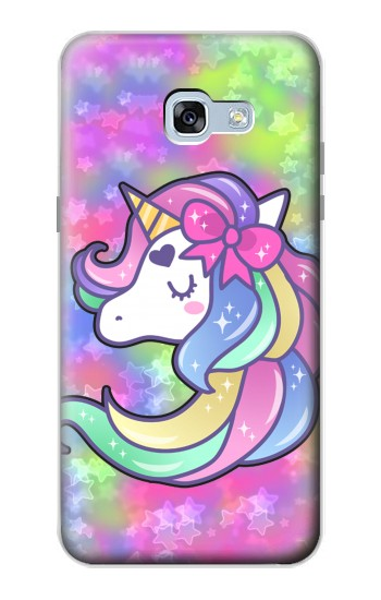 Printed Pastel Unicorn Samsung Galaxy A5 (2017) Case
