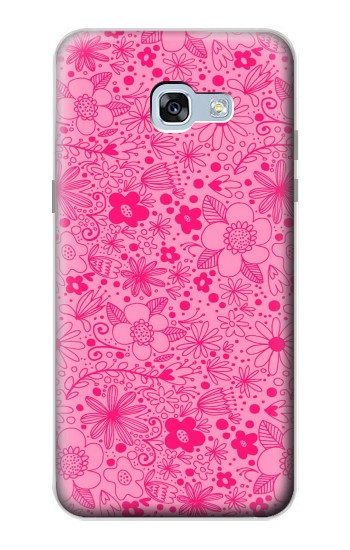 Printed Pink Flower Pattern Samsung Galaxy A5 (2017) Case