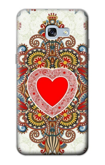 Printed Heart Pattern Line Art Samsung Galaxy A5 (2017) Case