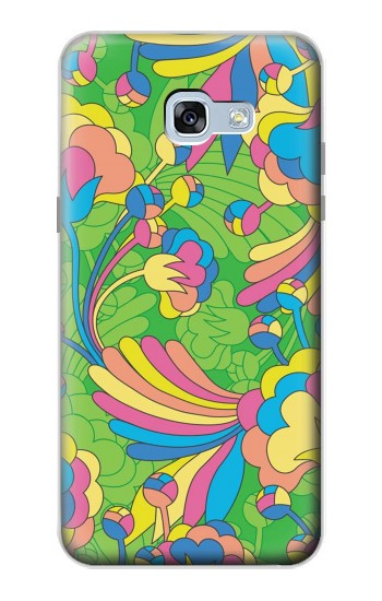 Printed Flower Line Art Pattern Samsung Galaxy A5 (2017) Case