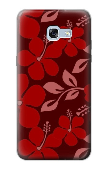 Printed Hawaii Dark Red Pattern Samsung Galaxy A5 (2017) Case